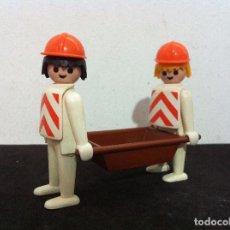 Playmobil: PLAYMOBIL. OBREROS DE CONSTRUCCION.. Lote 71109301