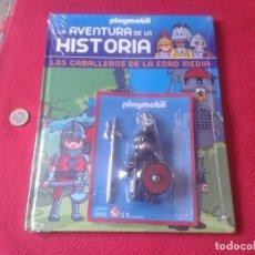 Playmobil: LOTE PLAYMOBIL LA AVENTURA DE LA HISTORIA CABALLEROS EDAD MEDIA CABALLERO NEGRO Y FASCICULO VER.PREC. Lote 71597463