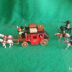 Playmobil: PLAYMOBIL DILIGENCIA ATACADA POR BANDIDOS CUATREROS OESTE CARAVANA WESTERN. Lote 71776491