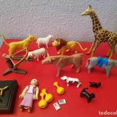 Playmobil: LOTE PLAYMOBIL ANIMALES CAJA FUERTE BANCO FIGURAS BALLESTA MEDIEVAL ZOO OESTE. Lote 72159475