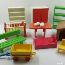 Playmobil: LOTE DE ACCESORIOS PLAYMOBIL GEOBRA 1981. Lote 72330809