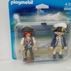 Playmobil: PLAYMOBIL 6846 DUO PACK PIRATA Y CAPITAN FRANCES. Lote 180906916