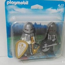 Playmobil: PLAYMOBIL 6847 DUO PACK GUERREROS MEDIEVALES. Lote 180906942