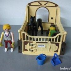 Playmobil: PLAYMOBIL ESTABLO HIPICA CABALLOS CABALLO JINETE . Lote 75791719
