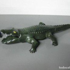 Playmobil: PLAYMOBIL COCODRILO GRANDE REF 4446 VERDE ANIMAL ZOO JUNGLA SELVA. Lote 76640683