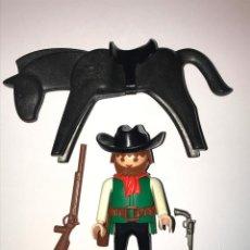 Playmobil: PLAYMOBIL CLICK OESTE VAQUERO GORRO CARTUCHERA RIFLE CABALLO. Lote 79173325
