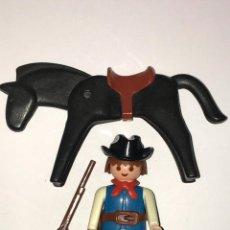 Playmobil: PLAYMOBIL CLICK OESTE VAQUERO GORRO CARTUCHERA RIFLE CABALLO. Lote 79175909