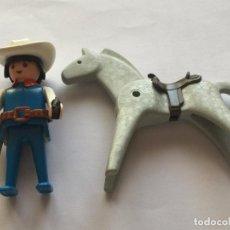 Playmobil: PLAYMOBIL CLICK OESTE VAQUERO GORRO CARTUCHERA CABALLO CABALLO. Lote 80406737