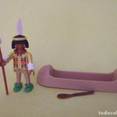 Playmobil: PLAYMOBIL FAMOBIL INDIO CON CANOA. Lote 80902983