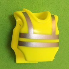 Playmobil: PLAYMOBIL CHALECO REFLECTANTE AMARILLO POLICIA SWAT LD. Lote 109998884