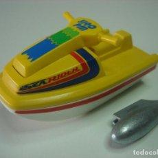 Playmobil: MOTO AGUA PLAYMOBIL ANTIGUO ACUATICA PILOTO BAÑISTA PLAYA DEPORTE. Lote 83030204