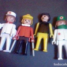 Playmobil: LOTE PLAYMOBIL GEOBRA 1974 ENFERMEROS MEDICOS HOMBRE MULETAS Y SEÑORA . Lote 83356328