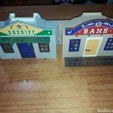 Playmobil: MALETIN PLAYMOVIL BANCO Y SERHIFF TAL Y COMO SEVE EN LAS FOTOS. Lote 83779658
