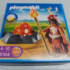 Playmobil: PLAYMOBIL - PREHISTORICOS - GUARDIAN DEL FUEGO REF 5104 - NUEVA EN CAJA. Lote 84897808