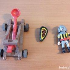 Playmobil: P0002- PLAYMOBIL GUERRERO Y CATAPULTA. Lote 87510552