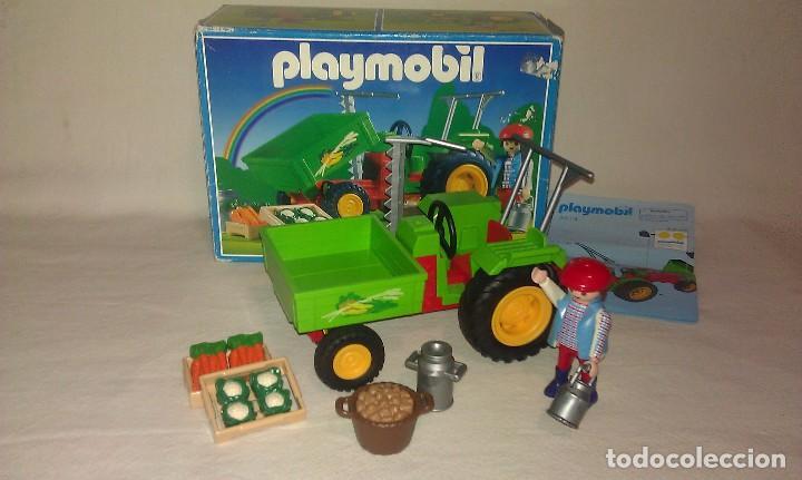 Tractor de la granja con agricultor de playmobi comprar for La granja de playmobil precio