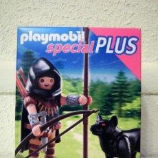 Playmobil: PLAYMOBIL ARQUERO MEDIEVAL CON LOBO. Lote 89319524