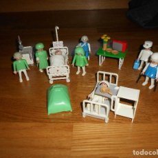 Playmobil: PLAYMOBIL - FAMOBIL - HOSPITAL - ENFERMERIA - QUIROFANO - AÑOS 80 - CLICKS + ACCESORIOS - GRAN LOTE. Lote 89757128