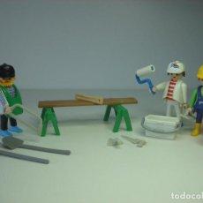 Playmobil: EQUIPO OBRERO PLAYMOBIL PINTOR CARPINTERO CONTRATISTA CONSTRUCCION OBRA. Lote 91058475