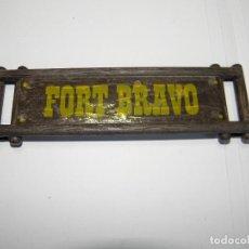 Playmobil: CARTEL LETRERO FUERTE FORT BRAVO DE PLAYMOBIL. Lote 91304360