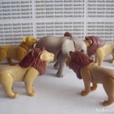 Playmobil: PLAYMOBIL LEONES CON ELEFANTE ANIMALES ZOO SELVA. Lote 91440750