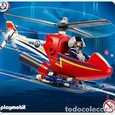 Playmobil: PLAYMOBIL-4824-HELICOPTERO FUEGO-CITY ACTION-NUEVO PRECINTADO. Lote 230841600