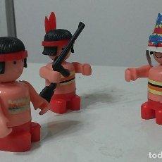 Playmobil: LOTE ANTIGUO DE 3 INDIOS PLAYMOBIL O SIMILAR. Lote 92263075