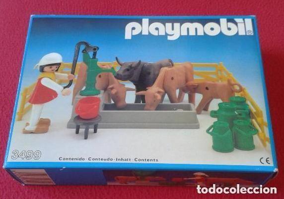 PLAYMOBIL 3499 NUEVO CAJA CERRADA SIN ABRIR ANTIGUO GRANJA VACAS TOROS JU (Juguetes - Figuras de Acción - Playmobil)