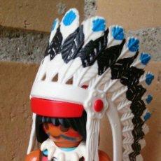 Playmobil: FIGURA PLAYMOBIL INDIO PLUMAS CINTURÓN AMARILLO. Lote 94503462