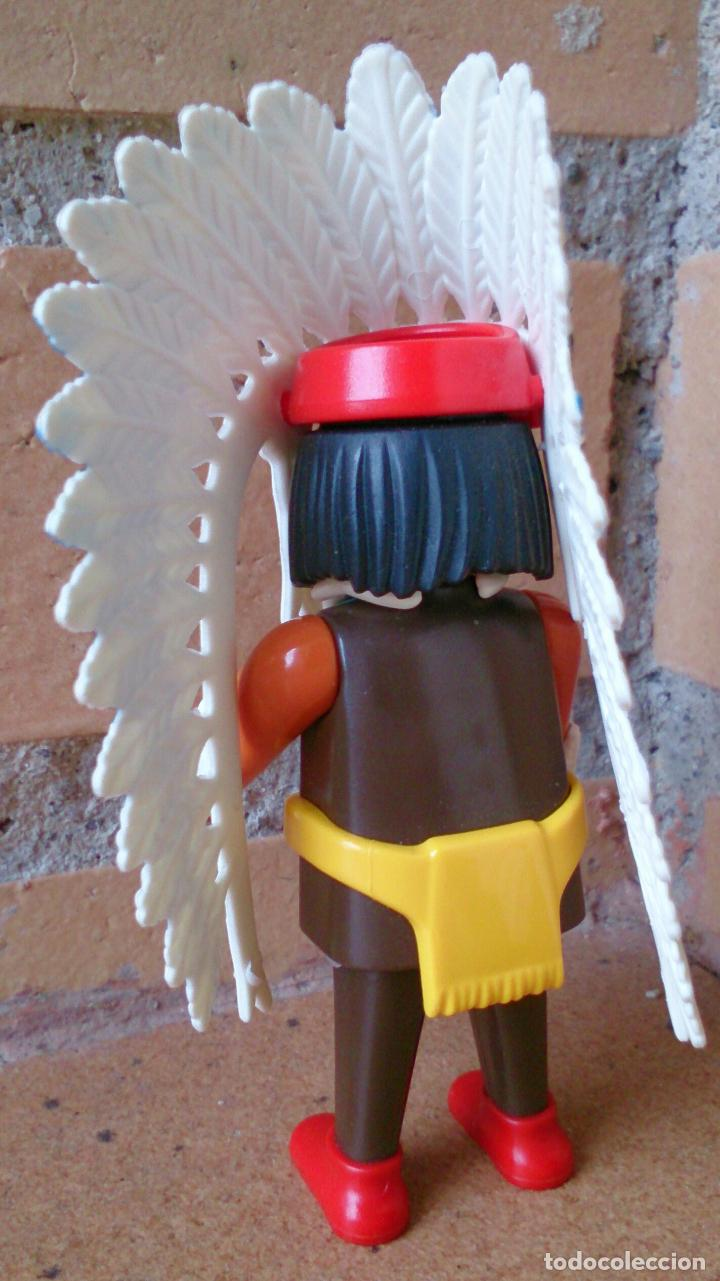Playmobil: Figura Playmobil indio plumas cinturón amarillo - Foto 2 - 94503462