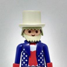 Playmobil: PEPYPLAYS PLAYMOBIL SERIE 1 SOBRE FIGURA TÍO SAM EEUU AMERICANO. Lote 138571040