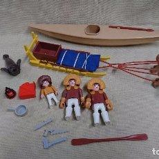 Playmobil: PLAYMOBIL - ANTIGUA REFERENCIA 3466 KAYAK Y TRINEO ESQUIMAL POLAR DE PLAYMOBIL . Lote 95734395