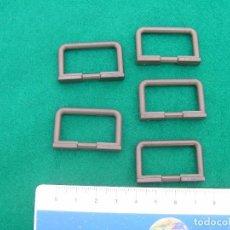 Playmobil: LOTE DE 5 VALLAS O BARANDILLAS PEQUEÑAS DE COLOR GRIS OSCURO. PLAYMOBIL,. Lote 95778915
