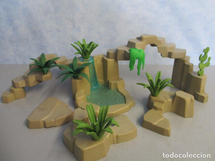 Belen Piezas Plantas Rocas Medievales Grises Enorme Decorado Playmobil Cascada Medieval Castillo 8yvnNm0wO