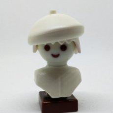 Playmobil: PLAYMOBIL CUSTOM PIEZA DECORATIVA BUSTO PINTOR BLANCO ARTE ARTISTA. Lote 140713598