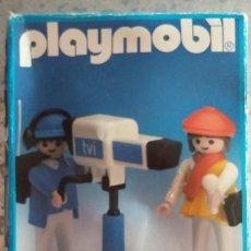 Playmobil: PLAYMOBIL REF.3571. DOS REPORTEROS DE TELEVISION Y CÁMARA CAJA CERRADA. AÑOS 80. Lote 107221568