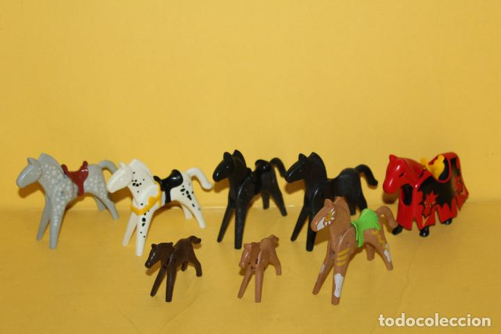 PLAYMOBIL LOTE DE CABALLOS - GEOBRA - 1986 /1974 (Juguetes - Figuras de Acción - Playmobil)