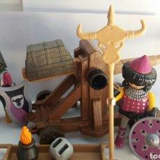Playmobil: PLAYMOBIL 4438 CATAPULTA BARBARA BÁRBARO MEDIEVAL VIKINGO CABALLEROS. Lote 97981507