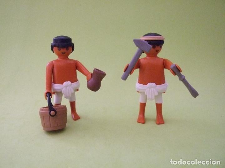 Playmobil Pareja De Artesanos Egipcios Esclavo Vendido En