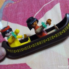 Playmobil: FAMOBIL PLAYMOBIL LOTE CANOA INDIA + 2 CLICK INDIOS AÑO 1974. Lote 98065519