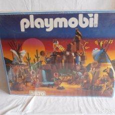 Playmobil: GRAN POBLADO INDIO PLAYMOBIL REF. 3870, CAJA ORIGINAL PRECINTADA, SIN ABRIR, ANTIGUA JUGUETERIA. Lote 98605555