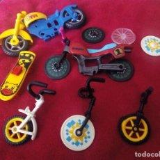 Playmobil: LOTE PIEZAS PLAYMOBIL DE MOTO SKATE Y CICLOS. Lote 98683267