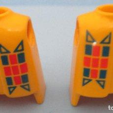Playmobil: PLAYMOBIL LOTE DE DOS CUERPOS TORSOS AMARILLOS INDIOS OESTE PRIMERA ÉPOCA. Lote 113972084