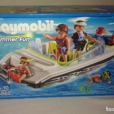 Playmobil: BARCA / LANCHA RÁPIDA FAMILIAR DE OCIO Y VACACIONES DE PLAYMOBIL REF. 4862 EN CAJA NUEVA Y SIN ABRIR. Lote 99201059