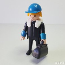 Playmobil: DIFICIL PILOTO AVIONETA PLAYMOBIL 3457 POLO NORTE AVION ESTACION METEOROLOGICA. Lote 100180999