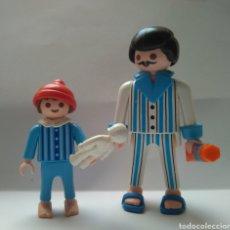 Playmobil: PLAYMOBIL VICTORIANO SERIE ROSA HOMBRE Y NIÑO EN PIJAMA 5325 5324 4661. Lote 101024586