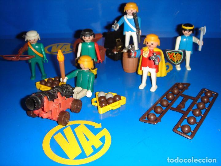 Playmobil: Lote Playmobil 6 figuras (1974) + ACC. DEFENDIENDO EL TESORO-observa las fotos - Foto 2 - 101035655