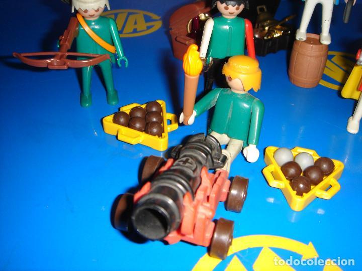 Playmobil: Lote Playmobil 6 figuras (1974) + ACC. DEFENDIENDO EL TESORO-observa las fotos - Foto 3 - 101035655