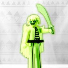 Playmobil: FIGURA PLAYMOBIL SERIE 10 PIRATA FANTASMA FLUORESCENTE FIGURA MUÑECO SOBRE SORPRESA. Lote 101485248
