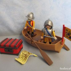 Playmobil: PLAYMOBIL LOTE SOLDADOS ESPAÑOLES CON BARCA FARO PIRATAS GALEON PIRATA ISLA VARIOS PIEZAS. Lote 102044955